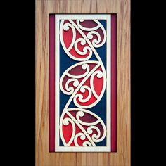 A New Zealand Maori style layered wooden Kowhawhai wall art panel. Maori Designs, Maori Symbols, Maori Patterns, Zealand Tattoo, Polynesian Art, New Zealand Art, Nz Art, Maori Art, Kiwiana