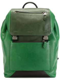 COACH Buckled Backpack. #coach #bags #leather #backpacks #