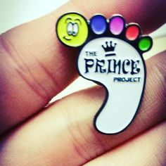 I love this black nickel detail on this pin badge we produced for the princes project