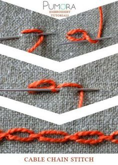 cable chain stitch tutorial