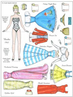 barbie magnet paper doll