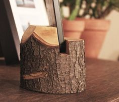 natural wood iphone stand by Mooth on Etsy, $20.00