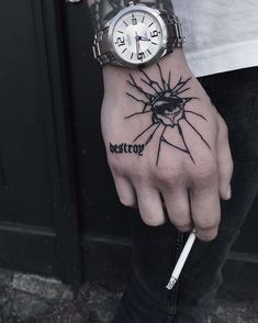 45 fabulous HAND TATTOOS for Men, See Also: 22 cutest butterfly tattoo ideas for girls Source Source Source Source Sourc. Hand Tattoos For Guys, Unique Tattoos, Small Tattoos, Tattoos For Women, Tattoo For Guys Ideas, Cool Tattoos For Men, Mens Hand Tattoos, Simple Hand Tattoos, Ambigramm Tattoo
