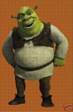 20 Meilleures Images Du Tableau Point De Croix Shrek En