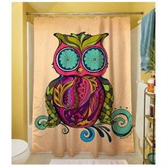 Owl Branch Gregir Shower Curtain, Multi-Colored, Paisley, Polyester, Shower Curtain, Adult, Wildlife (00725734799005) TBPZ1095: Features: -Product Type: Shower curtain -Color: Multi -Material: Polyester -Number of Items Included:1 -Gender: Unisex. Dimensions: -Overall Height - Top to Bottom:71 -Overall Width - Side to Side:74 -Overall Product Weight:1.5