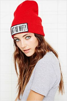 5eb4db75d35 Dimepiece Aint No Wifey Beanie Hat  UrbanOutfitters  beanie  hat   graytshirt Fashion 2014