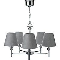 Brathwaite 5 Light Ceiling Light - Silver