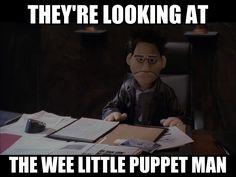 Wee little puppet man