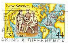 New Sweden. I love a stamp featuring a map!