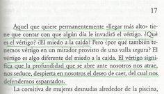 """fragmento de """"La insoportable levedad del ser"""" de Milan Kundera"""