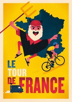 The Devil of the Tour de France - Spencer Wilson Illustration