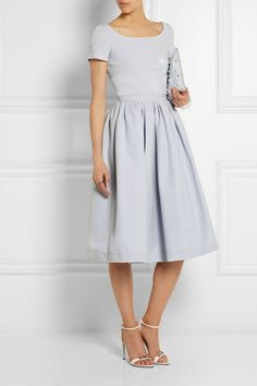 I like this color, even though gray sounds boring, this is fresh- sorta dove like... Preen by Thornton Bregazzi Everly stretch-crepe dress