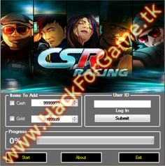 Working CSR Racing Hack. Works on all android and iOS devices. No ROOT or JAILBREAK required. It's generate unlimited cash and gold. CSR Racing Hack tool is now updated (May 2013). It's working much faster and have no bugs. Free download link in description below. Try it yourself! http://hackforgame.tk/csr-racing-hack-may-2013-free-download/