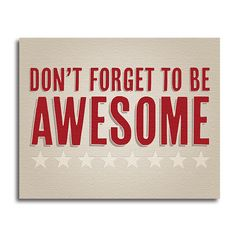 """Awesome"" Canvas Print 20X16 – Quotrly  $49"