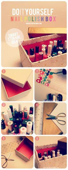 nail polish storage bow and color code