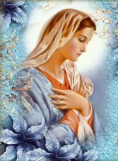 Glories of Mary: Mary and the Church Mary Jesus Mother, Blessed Mother Mary, Mary And Jesus, Blessed Virgin Mary, Catholic Art, Religious Art, Jesus Is My Friend, Verge, Images Of Mary