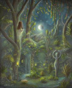 """The Four Elements"" 8"" x 10"" Original Acrylic Painting By Evocatist Landscape Artist Painter Philippe A. Fernandez."