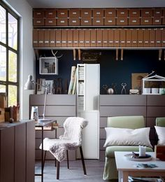 Blue-and-Brown-Decoration-in-Small-Home-Office-for-Women White Sets Decor for Modern Bedroom Ideas Get Latest Designs & Decor Ideas for your Home at http://www.urbanhomez.com/decor Find Top Architects for an awesome looking Bedroom at http://www.urbanhomez.com/construction/interior_designer