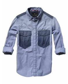 Washed chambray shirt - Shirts - Scotch & Soda Online Shop