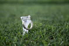 Golf course wedding photo - not the tees but this is a great idea to take engagement pictures on seeing as my mom works at a golf course!