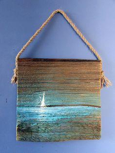 Driftwood Projects, Driftwood Art, Pallet Wall Art, Farmhouse Wall Art, Smart Art, Sea Glass Art, Wooden Art, Art Journal Inspiration, Easy Paintings