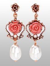 roos oorbellen