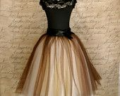 Brown and cream tutu for women. One of our by TutusChicOriginals