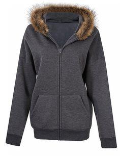 YesFashion Women's Long Sleeve Hooded Zipper Personality Hoodie Coat - Yesfashion.com in Free Shipping