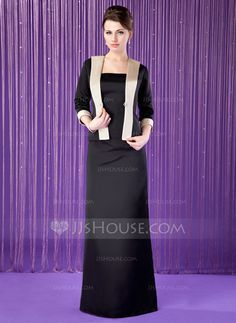 Mother of the Bride Dresses - $119.99 - Sheath Strapless Floor-Length Satin Mother of the Bride Dress (008018689) http://jjshouse.com/Sheath-Strapless-Floor-Length-Satin-Mother-Of-The-Bride-Dress-008018689-g18689
