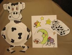 Preschool Crafts for Kids*: Hey Diddle Diddle Jumping Cow Craft
