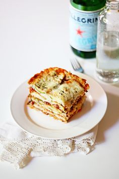 Zucchini Lasagna / Eat Sleep Cuddle - Made this tonight. It was AH-MAZINGLY good! Important note: Make sure the sauce is extra thick. The zucchini cooking will release extra liquid and cause a big mess if the sauce is not thick enough. Otherwise, this will definitely be made again here. :)