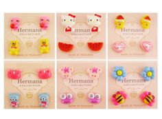12 Pairs Lot of Cute Kids Girls Plastic Soft Post Stud Earrings Fashion Children #Stud