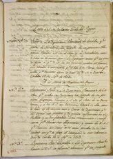 Página interior del primer Libro Copiador de Correspondencia de La Diputación de Córdoba, recoge cartas y oficios emitidos por la Diputación...
