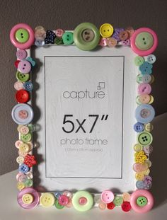 pastel button frame, button art, vintage button frame, vintage frame, diy button craft