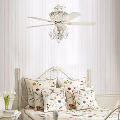 "52"" Casa Chic Rubbed White Ceiling Fan with 4-Light Kit"