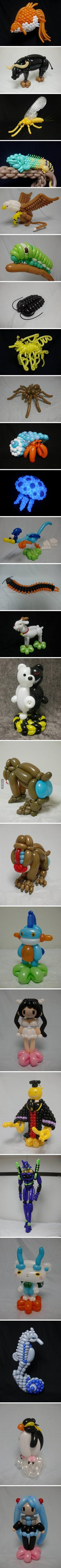 Damn! This is a whole new level of balloon twisting