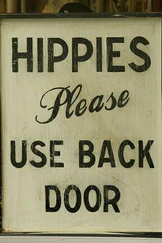 Hippies repressed retro sign, 60s, nostalgia