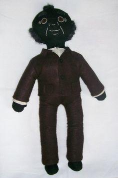 Charles OOAK Handmade Black Americana Cloth Doll by ErsatzEmporium, $20.00