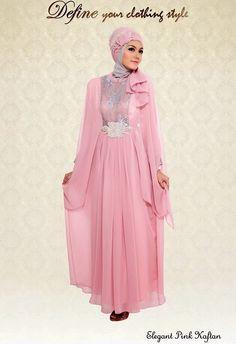 Busana Muslim Pesta Model Kaftan #Hijab #HijabTutorial #HijabIndonesia #BusanaMuslim www.hafana.com