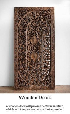 Carved wooden artwork wall decoration teak carved wood wall art hanging decorative motif lotus ft extra thick dark brown wash images of christmas wreaths
