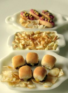 Sliders, hotdogs  fries