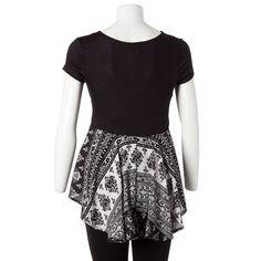 Black/White Bandana Pocket T-Shirt-Jr.