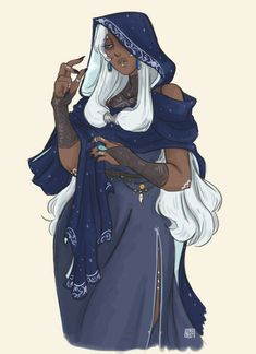 If someone I know saw this they would just see a regular person. But thanks to Steven Universe I know it's Blue Diamond. Black Anime Characters, Dnd Characters, Fantasy Characters, Female Characters, Fantasy Character Design, Character Design Inspiration, Character Concept, Character Art, Black Girl Art