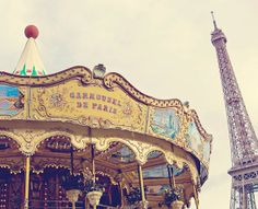 The Carousel and The Eiffel Tower Fine Art by GoodCamera on Etsy, $25.00