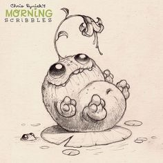 Chris Ryniak. His Morning Scribbles are the best!  Cute illustrations