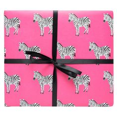 Zebras Gift Wrap | Wrapping Paper | Smudge Ink