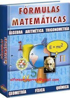 LIBROS: FORMULAS MATEMATICAS Math Formulas, Maths Algebra, E Mc2, Science, News Sites, Idioms, Astronomy, My Books, Engineering