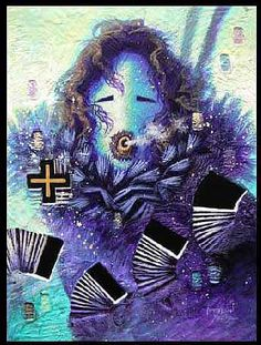 By Peterson Yazzie (Navajo) - Mixed Media: Songs of Dawn kp Native American Headdress, Native American Tribes, Native Americans, Navajo Art, Navajo Rugs, Modern Indian Art, Indian Baskets, Native American Paintings, Native Art