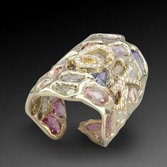Sapphires & Diamond Cuff