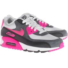 Nike WMNS Air Max 90 Essential Pink Flat sneakers found on Polyvore